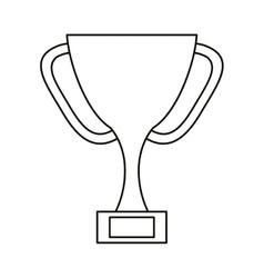 trophy award sport win sport outline vector image