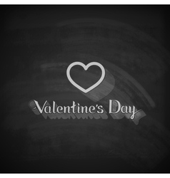 Valentines Day lettering emblem on the blackboard vector image
