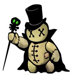 Voodoo doll conjurer cartoon vector