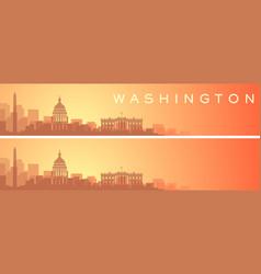 washington beautiful skyline scenery banner vector image