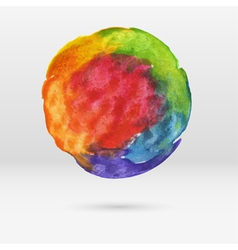 watercolor circle vector image