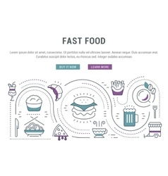 Website Banner and Landing Page Fast Food vector image