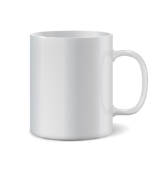 White cup isolated on white background vector