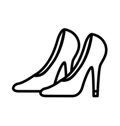 woman shoes icon on white background vector image