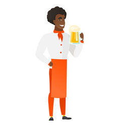 chef cook drinking beer vector image vector image