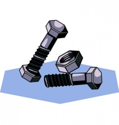 nuts and bolts vector image vector image