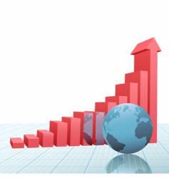 progress bar chart vector image vector image