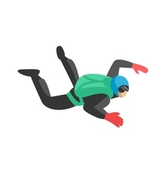 Skydiver man parachutist foreground extreme sport vector