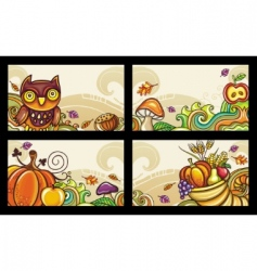 autumn cards vector image vector image