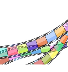 background with color filmstrip vector image
