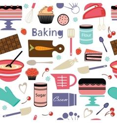 Bakery pattern vector image
