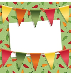chili pepper decoration vector image vector image