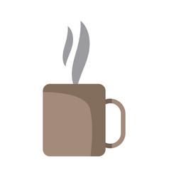 coffee cup mug hot aroma liquid fresh vector image vector image