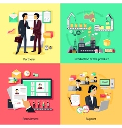 Concept of recruiting support and partnership vector