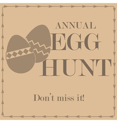 Egg hunt vector image vector image