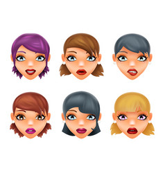 girls stylish woman lips slightly open mouth vector image