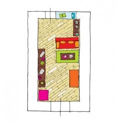 interior design apartments top view vector image vector image