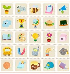Kid stuff icons vector image vector image