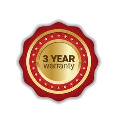 warranty sticker golden label guarantee icon badge vector image