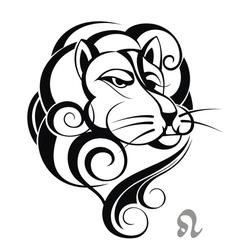 zodiac signs of leo vector image vector image