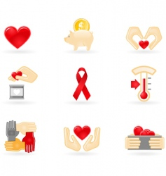 donation and charity icons vector image vector image