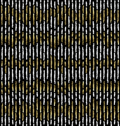 Grunge gold stripe seamless pattern vector image