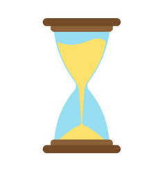 Hourglass icon time sand hour clock glass design vector