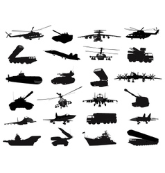Military set vector image vector image