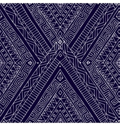 Seamless asian ethnic doodle black white pattern vector image