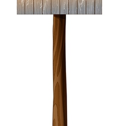 A wooden mailbox with a post vector image