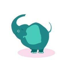 Cute cartoon elephant flat vector