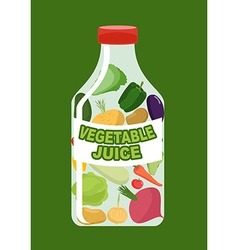 Vegetables juice Juice from fresh vegetables vector image vector image