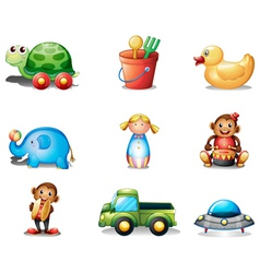 A collection of the different toys vector image