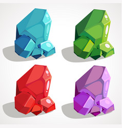 a set of precious nuggets vector image