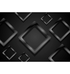 Abstract black glossy squares background vector