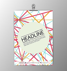Abstract modern Brochure Flyer design paper clip vector
