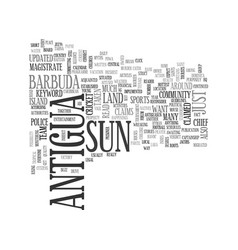 Antigua newspaper text word cloud concept vector