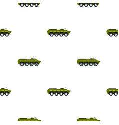 Armoured troop carrier pattern flat vector