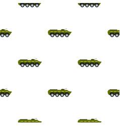 Armoured troop carrier pattern flat vector