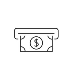 Atm cash outline icon vector