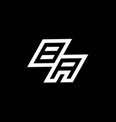 Ba logo monogram with up to down style negative vector