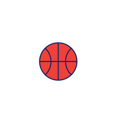basket ball logo icon inspiration isolated on vector image