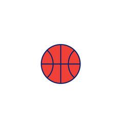 Basket ball logo icon inspiration isolated on vector