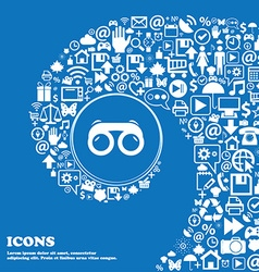 binoculars icon Nice set of beautiful icons vector image