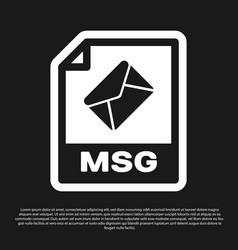 Black msg file document icon download msg button vector