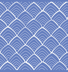 blue pattern with white ornament vector image