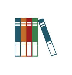books read encyclopedia learn vector image