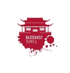 Buddhist Church and splash vector image