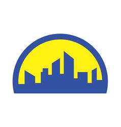 building abstract logo icon vector image