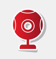 chat web camera sign new year reddish vector image